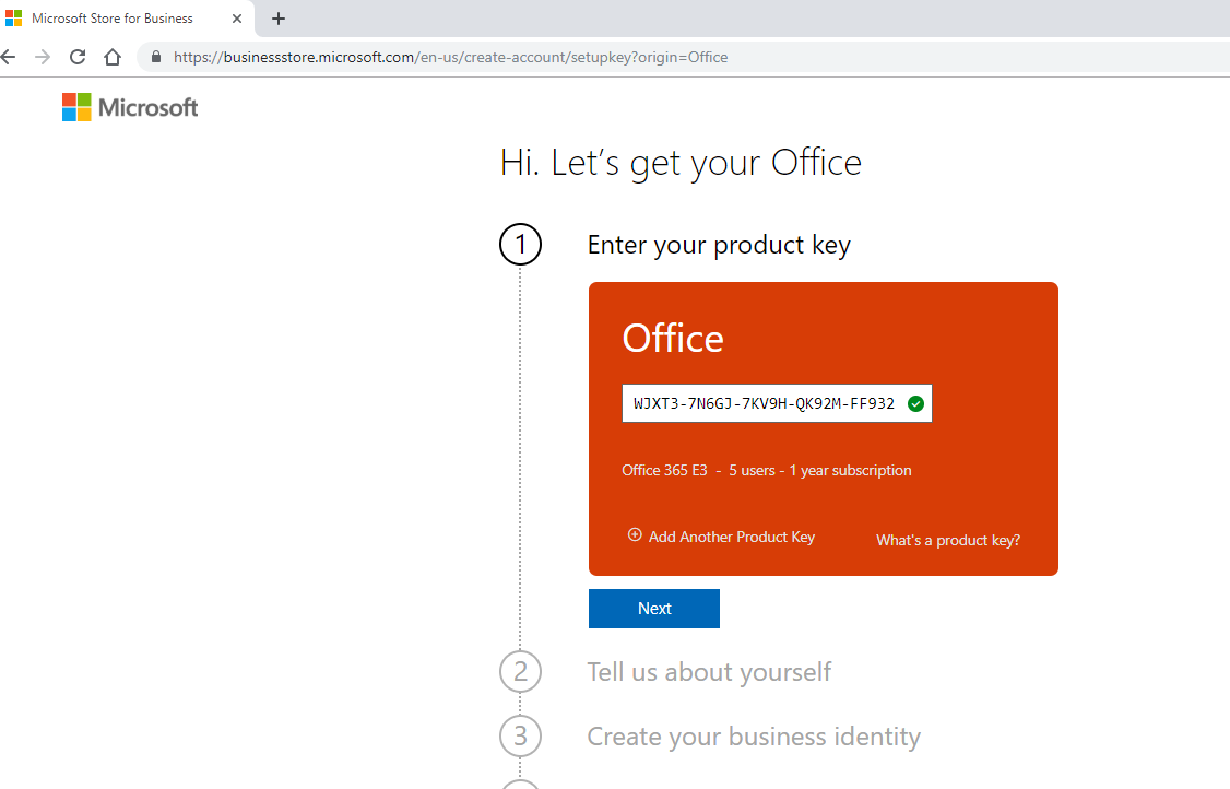 Instructions for using the License Office 365 Enterprise E3