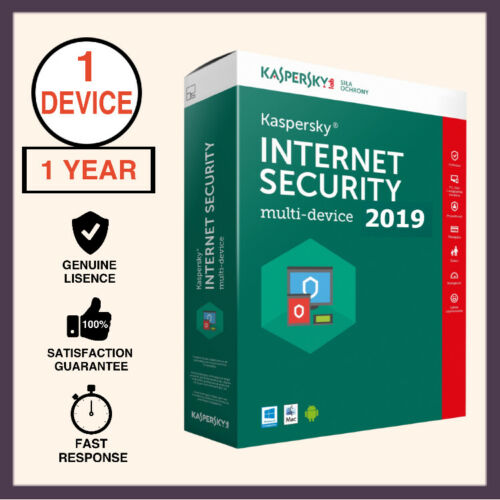 Kaspersky internet security 2019 Key 1PC 1Year license
