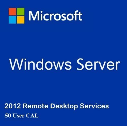 License Key Windows Server 2012 R2 Remote Desktop Services RDS 50 USER CAL