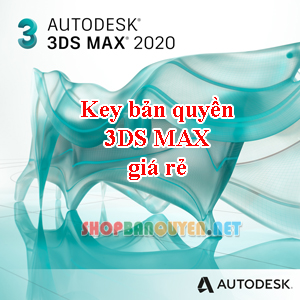 Key License Autodesk 3ds max 2017/2018/2019/2020 Edu bản quyền 3 năm cho Windows/Macbook