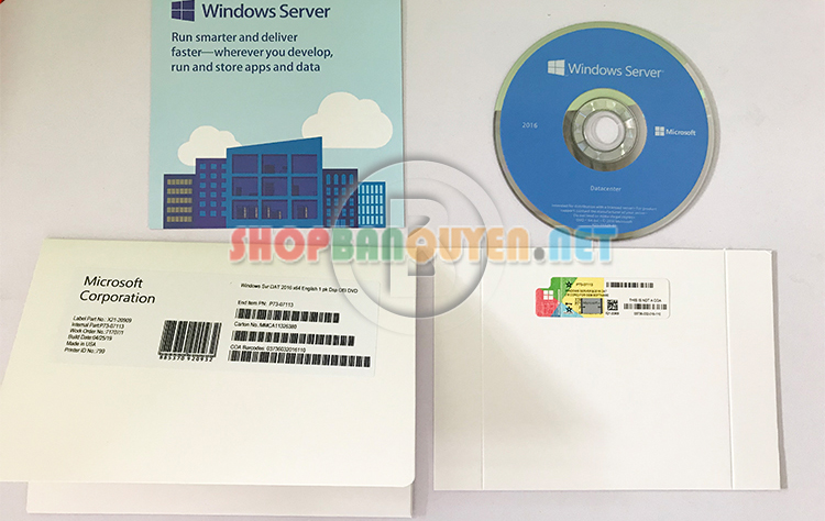 Windows Svr Dat 2016 X64 English 1pk DSP OEI DVD 16 Core