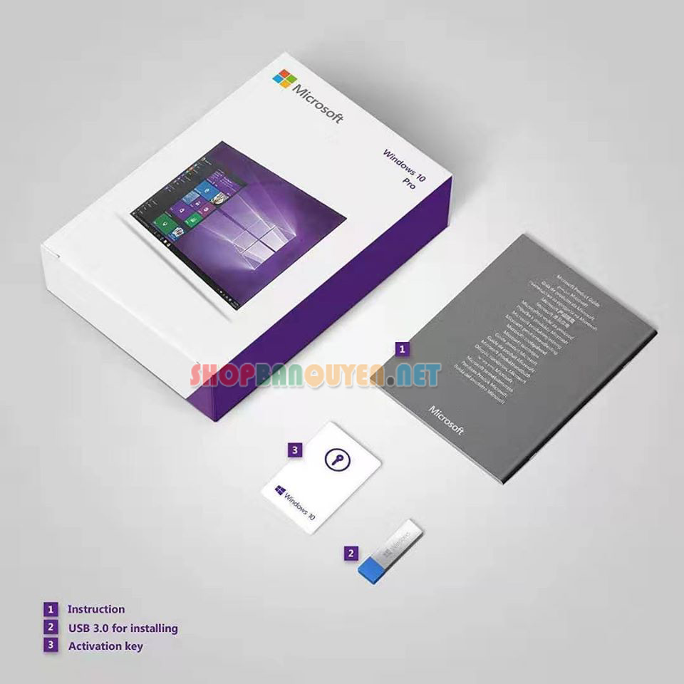 USB Windows 10 Professional bản quyền full box