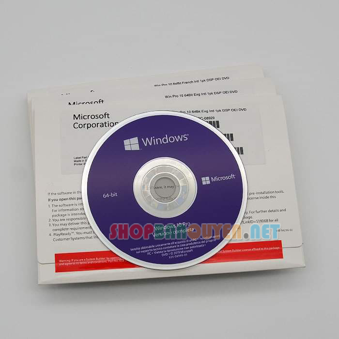 DVD Windows 10 Professional bản quyền full box