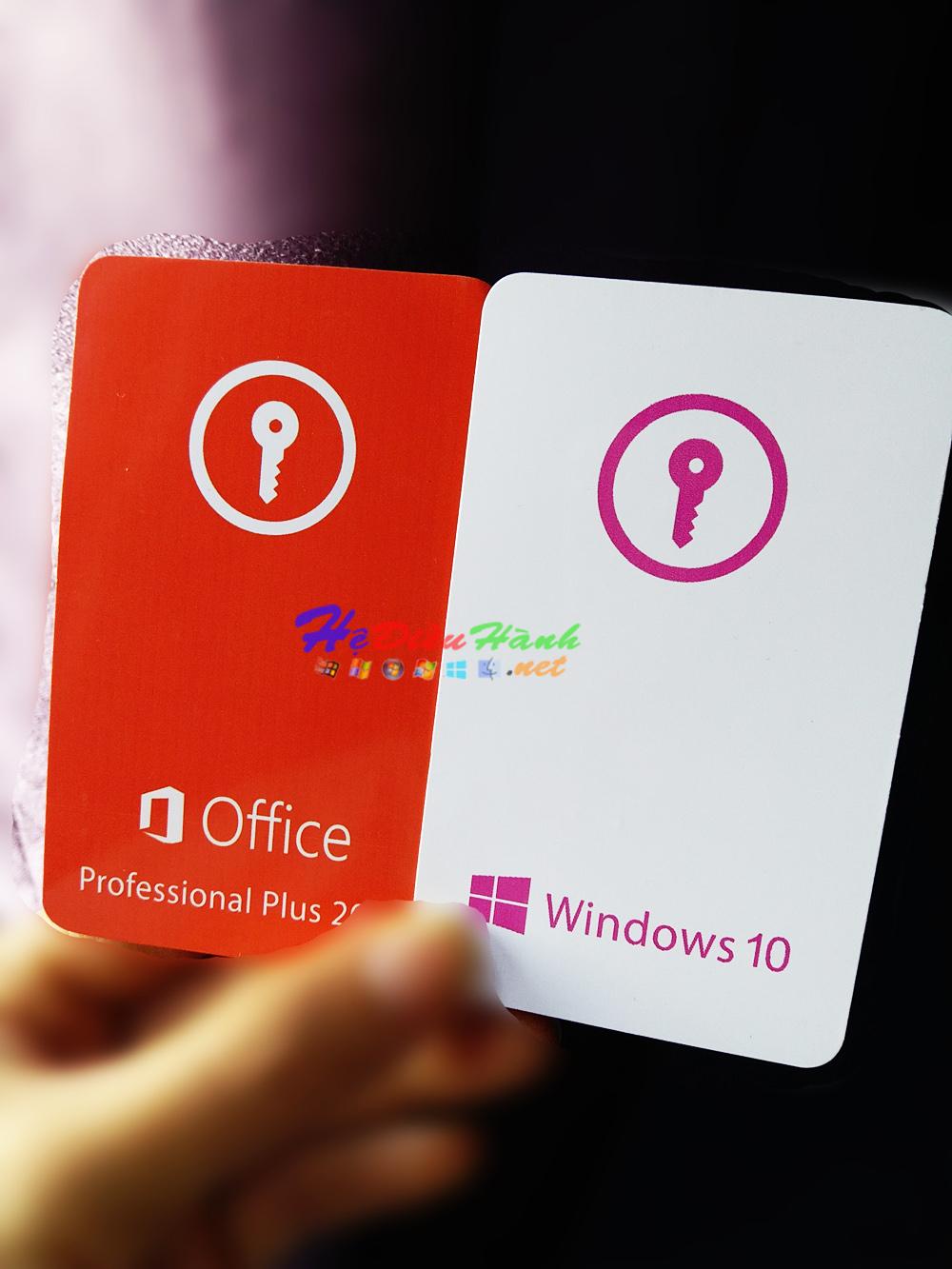 Thẻ Key Windows 10 Pro bản quyền vĩnh viễn (tặng DVD cài đặt)