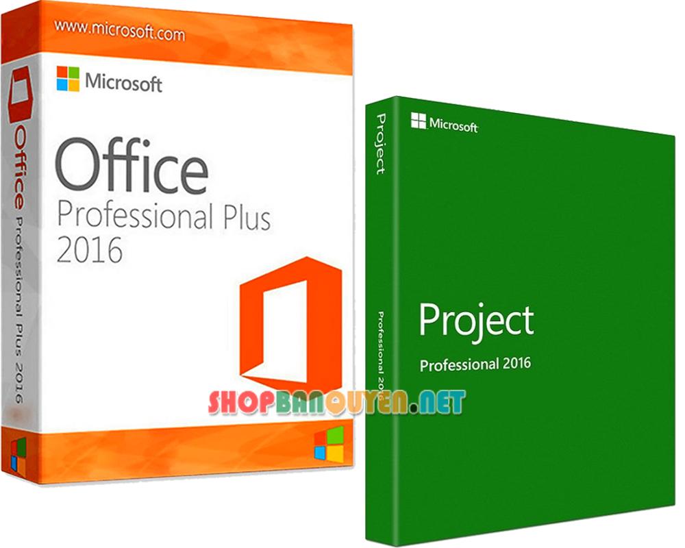 Combo key Office 2016 Project 2016 bản quyền vĩnh viễn