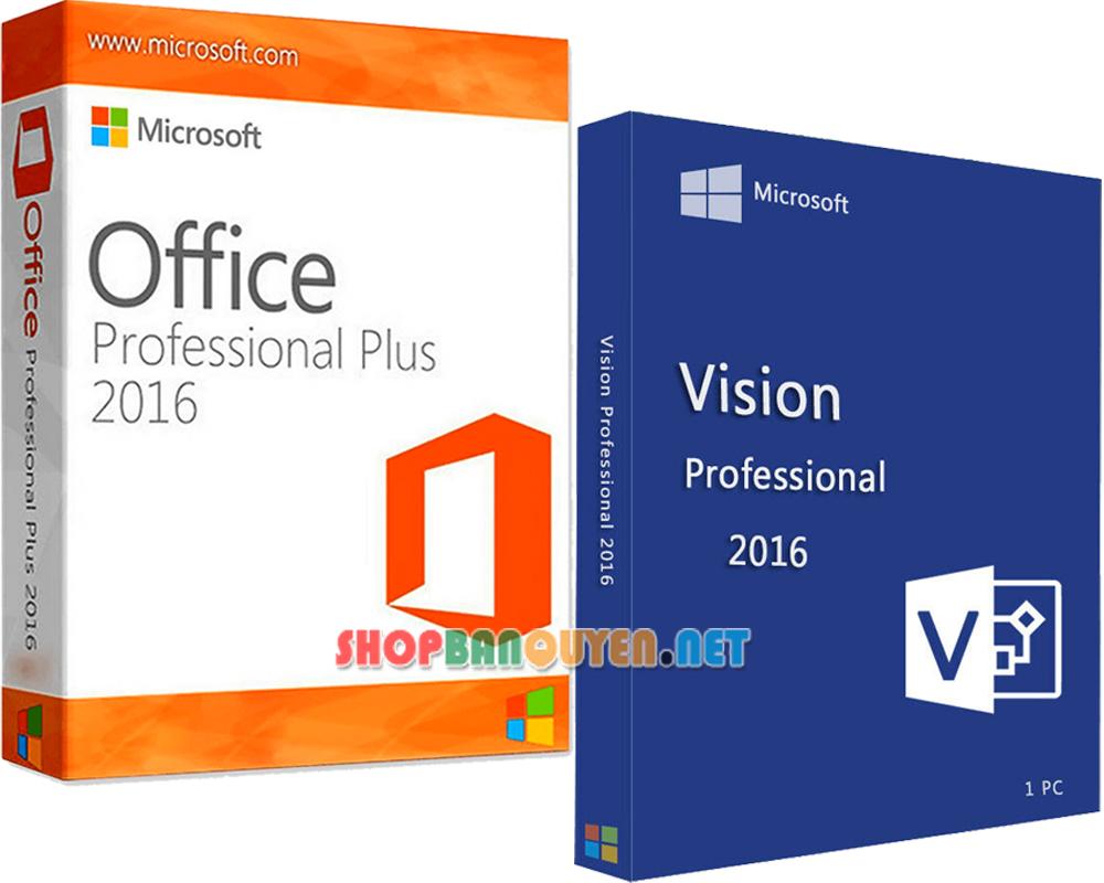 Combo key Office 2016 Visio 2016 bản quyền vĩnh viễn