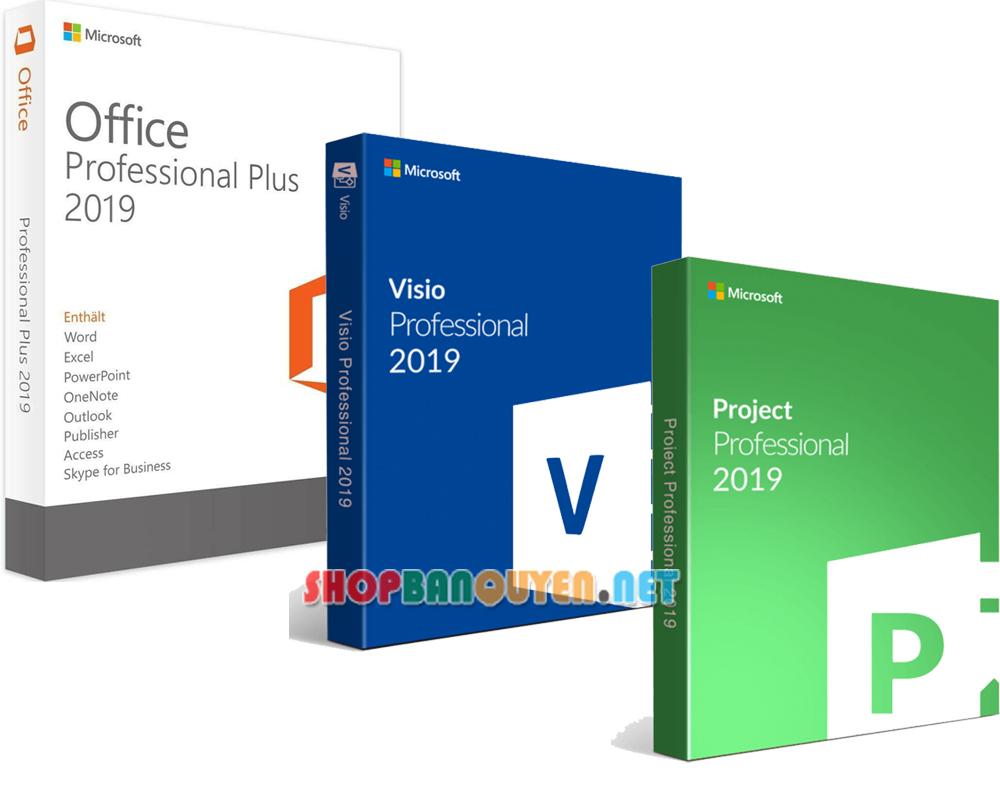Combo key Office 2019 Visio 2019 Project 2019 bản quyền vĩnh viễn