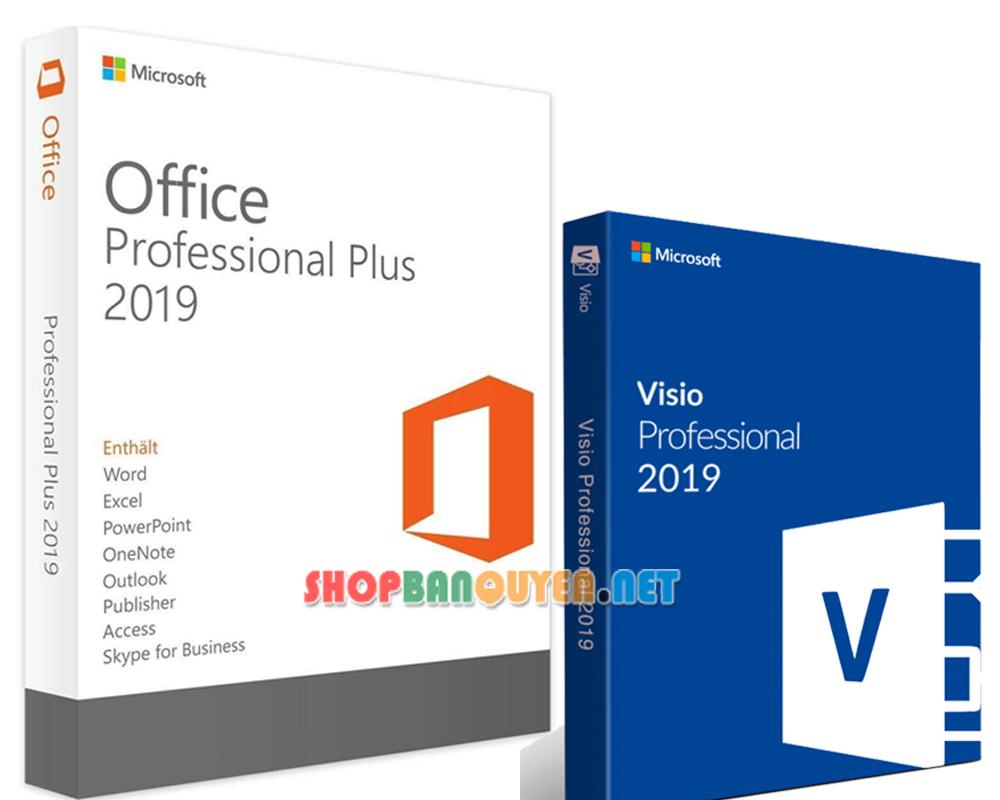 Combo key Office 2019 Visio 2019 bản quyền vĩnh viễn