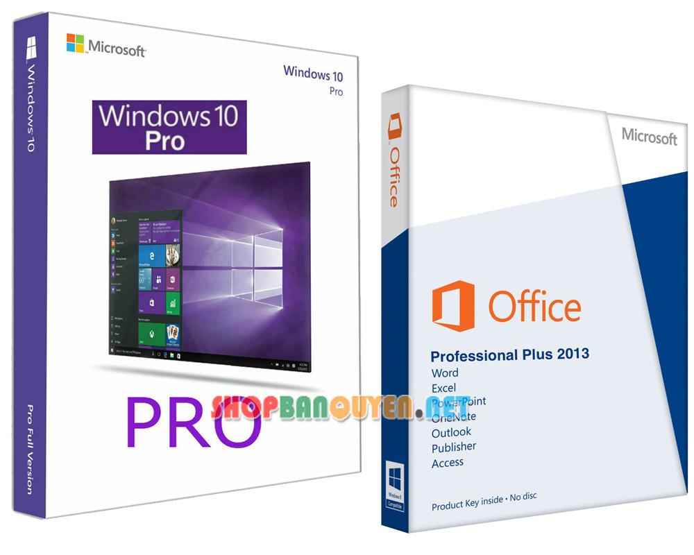 Combo key Windows 10 Office 2013 bản quyền vĩnh viễn