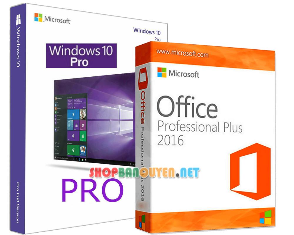 Combo key Windows 10 Office 2016 bản quyền vĩnh viễn