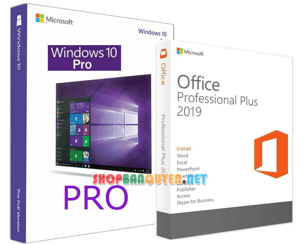 Combo key Windows 10 Office 2019 bản quyền vĩnh viễn