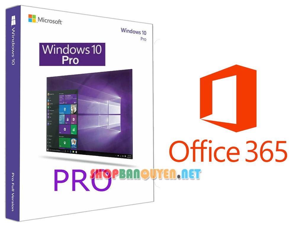 Combo key Windows 10 Pro vĩnh viễn Office 365 bản quyền 1 năm