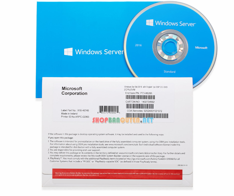 Windows-Sever-2016-Standard-64-bits-DVD-full-box