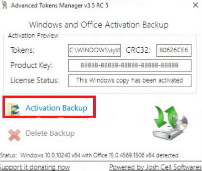 Backup and Restore Keys Windows 7/8/8.1/10 And Office