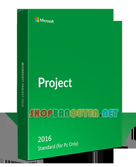 Key license Microsoft Project 2016 Standard bản quyền vĩnh viễn